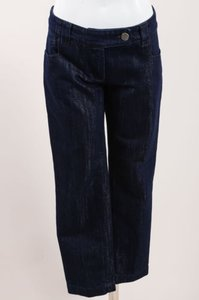 Dior Christian Dark Blue Capri/Cropped Denim