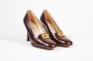 St. John Glossy Leather Brown Pumps