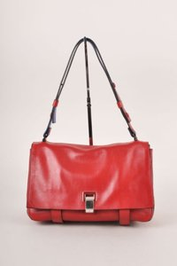Proenza Schouler Proenza Red Leather Flap W Clasp Courier Shoulder Bag