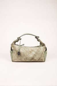 Tod's Olive Suede Leather Shoulder Bag