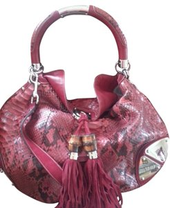 Gucci Python Exotic Oneofakind Statement Hobo Bag