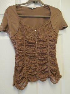 Large Corset Night Out Top Brown