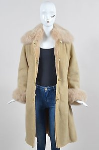 Coach Tan Shearling Suede Coat
