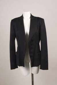 Antonio Berardi Antonio Berardi Black Wool Notch Lapel Wrap Blazer