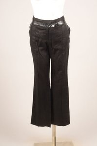 Alexander Wang Black Coated Relaxed Pants