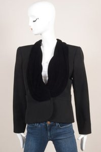 Saint Laurent Vintage Yves Saint Laurent Black Velvet Collar Ls Wool Blazer Jacket
