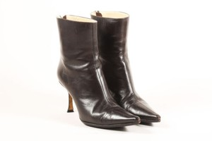 Jimmy Choo Dark Leather Brown Boots