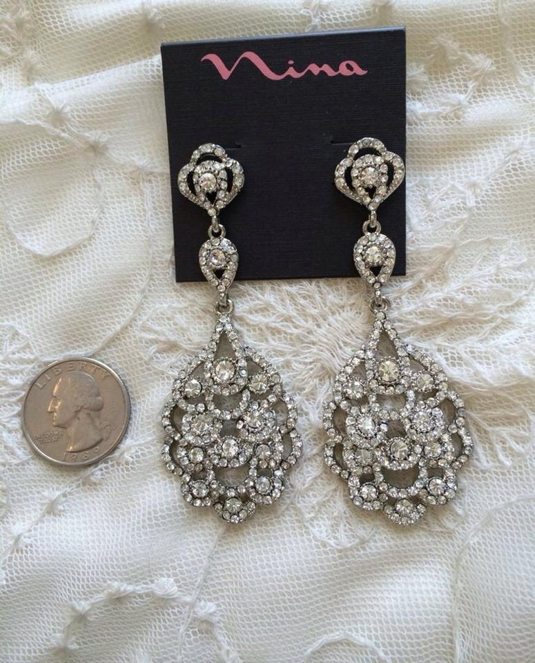 Nina shoes silver eiffel statement chandelier earrings tradesy statement chandelier earrings 12345678 aloadofball Choice Image