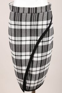 Sea New York Black White Plaid Wrap Skirt
