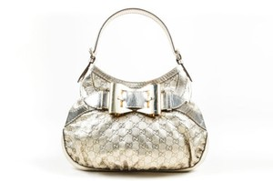 Gucci Metallic Leather Queen Hobo Bag