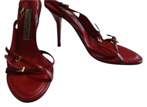 Angeleigh Anastasio Leather Made In Italy Beautiful Red Sandals