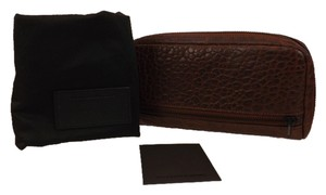 Alexander Wang FUMO PEBBLE WINE LEATHER CONTINENTAL 3/4 ZIP WALLET $315