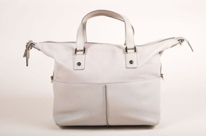 Tod's Tods Silver Tone Satchel in Gray
