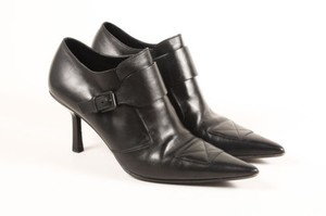 Gucci Leather Buckled Black Boots