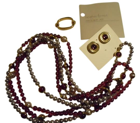 Preload https://img-static.tradesy.com/item/109905/avon-purple-and-grey-vintage-earring-set-necklace-0-0-540-540.jpg