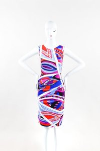 Emilio Pucci Red White Blue Dress