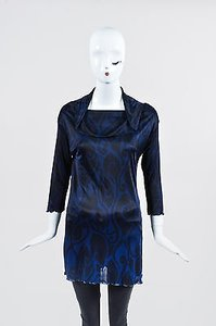 Fendi Navy And Black Abstract Tunic