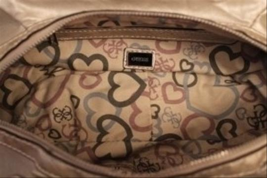 Guess Satchel in Pale Gold