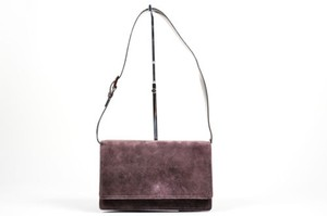 Prada Dark Suede Shoulder Bag