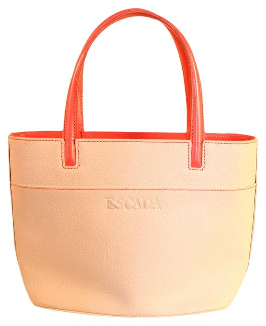 Item - White / Pink Leather Tote