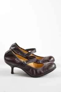Lanvin Lavin Leather Elastic Brown Pumps