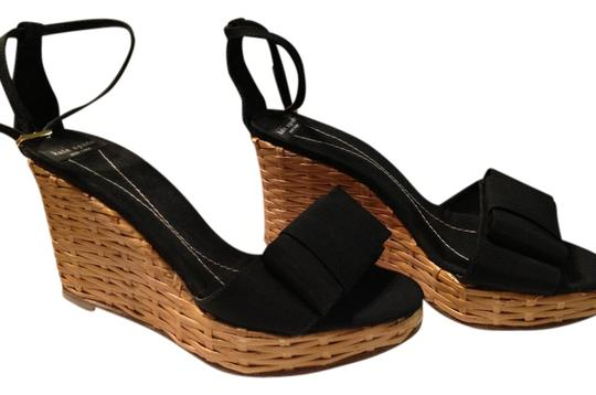 Kate Spade Wedge Ankle Strap Black Platforms