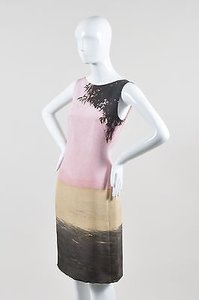 Akris short dress Multi-Color Pink Silk Tropical Print Stable San Cristobal Sl Shift on Tradesy