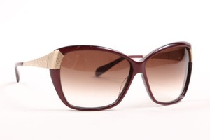 Oliver Peoples Oliver Peoples Dark Red Gold Tone Hammered Metal Plastic Skyla Sunglasses
