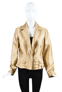 Valentino Roma Tan Metallic Gold Jacket