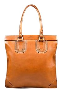Ghurka Cognac Leather Tote in Brown