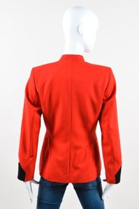 Escada Vintage Escada Red Black Pink Wool Knit Tailored Long Sleeve Blazer Jacket