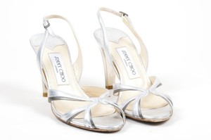 Jimmy Choo Metallic Silver Sandals