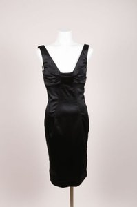 Dolce&Gabbana Dolce Gabbana Black Satin Dress
