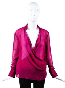 Nellie Partow Purple Crepe Top Pink
