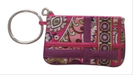 Vera Bradley Wristlet in Pink and purple floral design