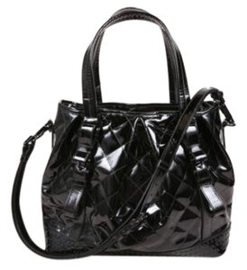 Burberry Black Patent Leather Tote