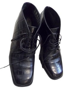 Joan & David Lace Up Everyday Black Boots