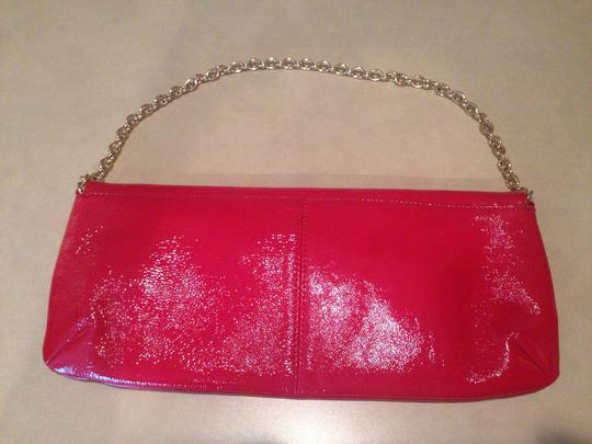 Hobo International Patent Red with Gold Clutch