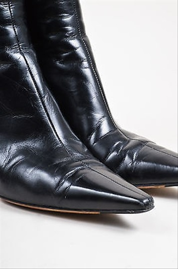 Jimmy Choo Pointed High Black Leather Boots Image 3