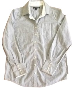 Banana Republic Button Down Shirt Navy Pin Stripe