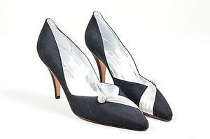 Gucci Vintage Black Silver Multi-Color Pumps