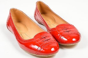 Robert Clergerie Patent Red Flats