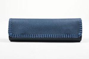 Carlos Falchi Navy Blue Clutch