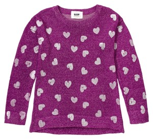 RUUM Pullover Hearts Size 12 Large Sweater