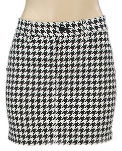 Junya Watanabe Houndstooth Mini Micro-mini Ultra Mini Pencil Mini Skirt Black, White