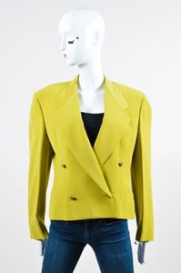 Versace Vintage Gianni Versace Couture Chartreuse Green Ls Blazer