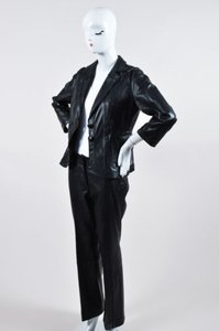 Just Cavalli Just Cavalli Black Leather Pant Suit