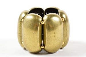Kenneth Jay Lane Kenneth J Lane Oxidized Gold Tone Chunky Stretch Bracelet