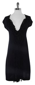 Nanette Lepore short dress Black Knit Silk Blend on Tradesy