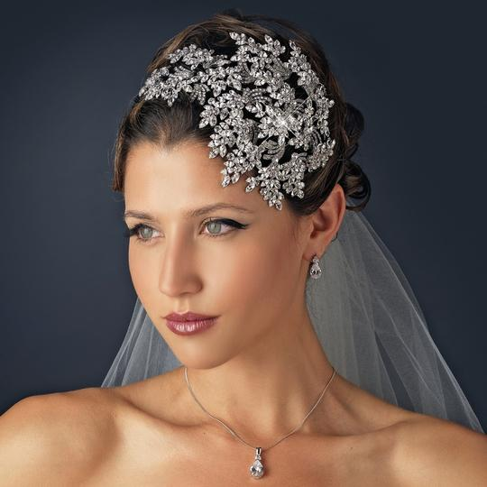 Elegance by Carbonneau Silver Gatsby Style Bold Side Accent Headpiece Hair Accessory